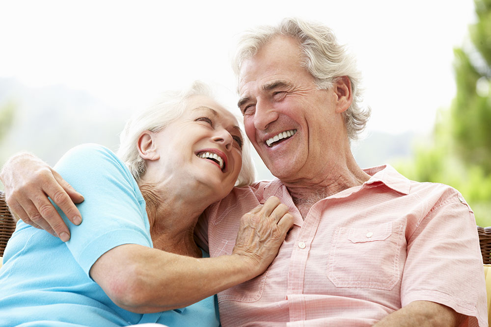 Senior Couple Retired Talking about Home